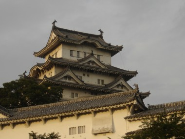 Himeji jo: the most famous castle in Japan.