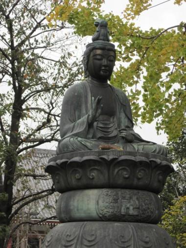 Buddha statue in Kaminarimon, Asakusa, Tokyo, Japan.