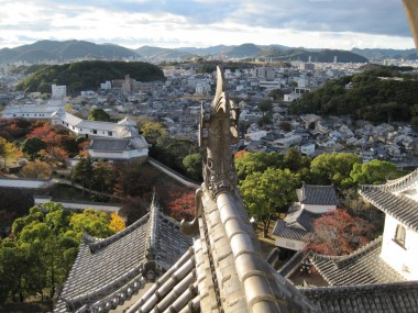 Himeji - View from up in the Himeji Castle in mid November.