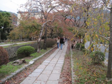 Philosopher's Path -  Walking along the Philosopher's Path in Kyoto.