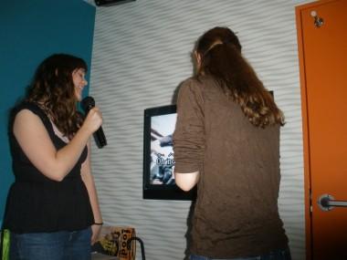 Karaoke - Sarah and Hannah singing karaoke!