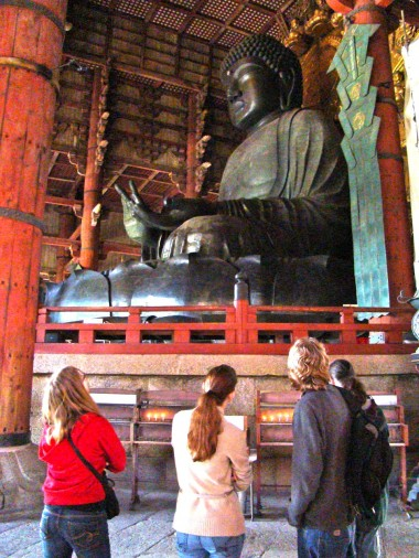 Nara - Daibutsu, Great Buddha statue in the Todaiji Temple in Nara.