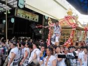 Tenjin Matsuri summer festival float, Osaka 2010