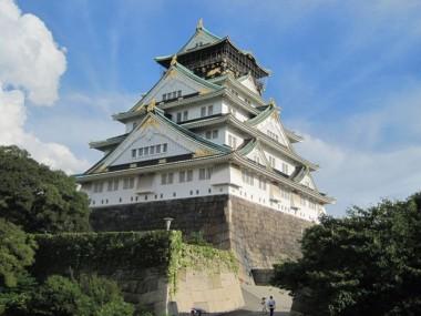Osaka Castle in Osaka, Japan.