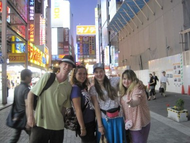 "The Worldschool Travel Tour: Japan in Summer 2010 group at Akihabara, ""Electric Town"" in Tokyo, Japan."